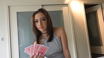 Step Sister Loses At Strip Poker