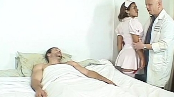 Shemale nurse assfucked by hard cocks