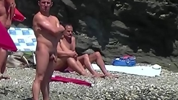 nudist guys on transmitted to beach 17
