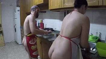 Nudist cuisine and fucked in the cookhouse