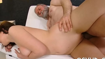 Juvenile girl blows old pecker