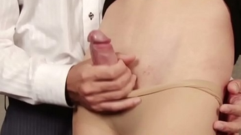 Dilettante newhalf pounding lucky guys ass