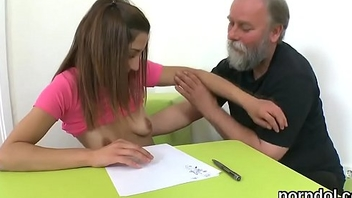 Erotic schoolgirl gets tempted and shagged by her elder teacher