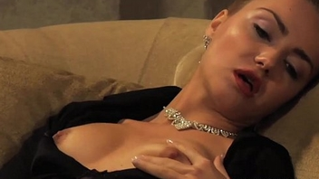 Madame Orgasming While Looking At Her Naked Slave