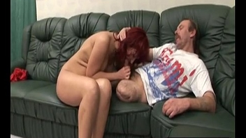 Amputee licks pussy and gets cock sucked by redheadan-hi-1