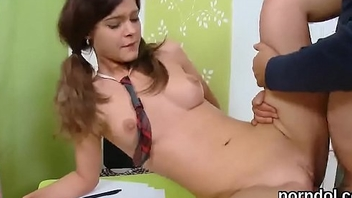 Nice schoolgirl is seduced and poked by her older teacher