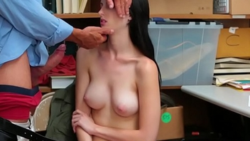 Teen shoplifter jizzed