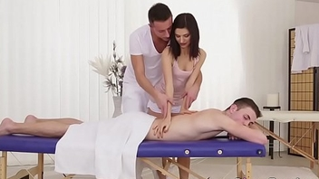 Massage  turns into bisexual trilogy