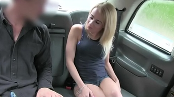 Perky tits blond railed by nasty driver to missing her fare