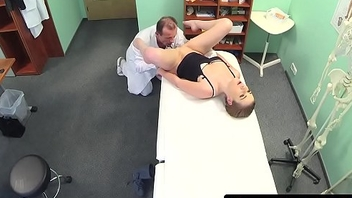 Patient amateur doggystyled by dr on spycam