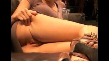 Ariana von Hers from www.sweetmilfcams.com show the fur pie in public restaurant