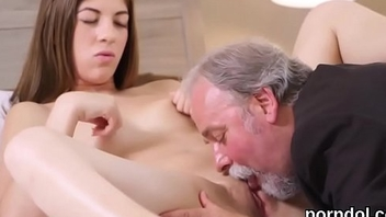 Sensual college girl was seduced and rode by her older teacher