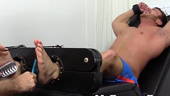 Big dick and muscular Frey getting fingertips tickle by his friend